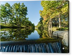 River Falls In The Fall On The Guadalupe River Acrylic Print by Jeffrey W Spencer