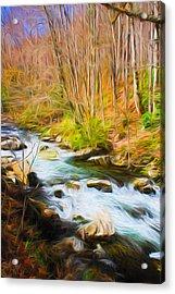 River Flow Series 02 Acrylic Print