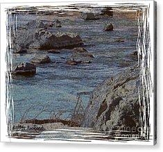 River Flows Acrylic Print by Bobbee Rickard