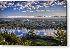 River Fog At Winona Acrylic Print