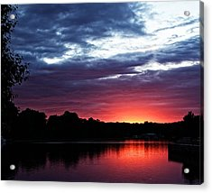 Acrylic Print featuring the photograph River Glow by Dave Files