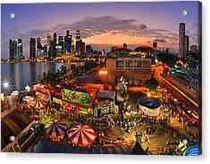 River Hong Bao 2015 Singapore Acrylic Print by Fiftymm99