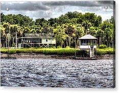 River House On Wimbee Creek Acrylic Print