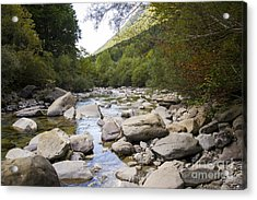 river in Ainsa Acrylic Print