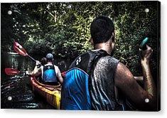 River Kayaking Acrylic Print