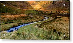 River Near Annascaul Lake In Kerry Acrylic Print