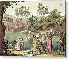 River Near San Benedetto, Madagascar Acrylic Print by Gallo Gallina