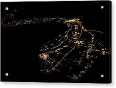 River Nile At Night Acrylic Print by Babak Tafreshi