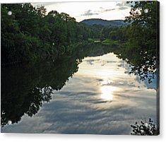 River Of Clouds Acrylic Print by Jean Hall