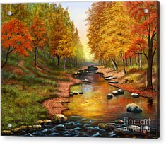 River Of Colors Acrylic Print by Sena Wilson