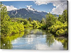 River Of Golden Dreams Acrylic Print by Pierre Leclerc Photography
