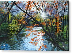 River Of Joy Acrylic Print by Lynn Hansen