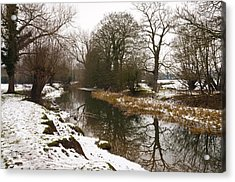 River Ouse In Snow Acrylic Print