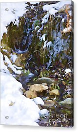 River Painting Acrylic Print by Donna Greene