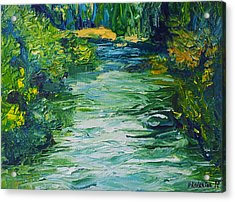 River Painting Acrylic Print