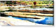 River Paradise Acrylic Print by David  Norman