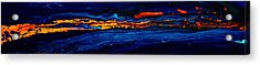 River Path Abstract Art Horizontal Fluid Painting By Kredart Acrylic Print