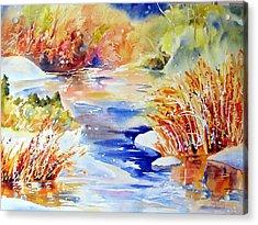 River Reeds Acrylic Print