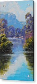 River Reflections Megalong Creek Acrylic Print by Graham Gercken