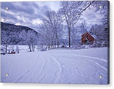 River Road Winter Acrylic Print