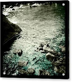 River Rocked Acrylic Print by Susan Maxwell Schmidt