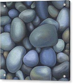 River Rocks Acrylic Print by Natasha Denger