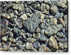 Acrylic Print featuring the photograph River Rocks One by Chris Thomas