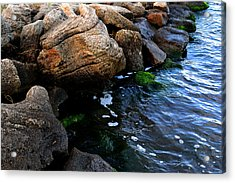 River Rocks Acrylic Print by Victoria Clark