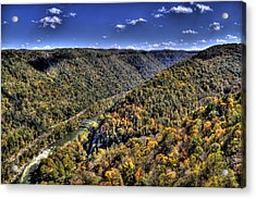 River Running Through A Valley Acrylic Print