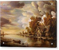 River Scene 3 Acrylic Print by Dan Scurtu