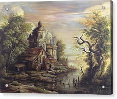 River Scene 5 Acrylic Print by Dan Scurtu
