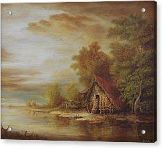 River Scene Acrylic Print by Dan Scurtu