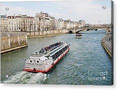 River Seine Excursion Boats Acrylic Print