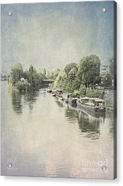 River Seine In Paris Acrylic Print