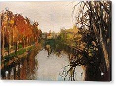 River Severn Autumn Light Acrylic Print by Paul Mitchell