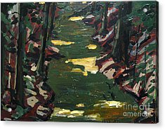 River Shadows After Sisley Acrylic Print by Charlie Spear