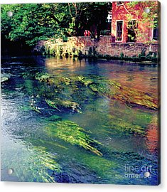 River Sile In Treviso Italy Acrylic Print by Heiko Koehrer-Wagner