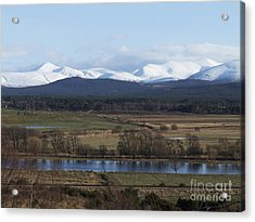 River Spey And Cairngorm Mountains Acrylic Print by Phil Banks