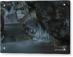 River Stalactites Acrylic Print by Rod Wiens