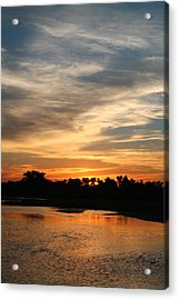 Acrylic Print featuring the photograph River Sun by Alicia Knust