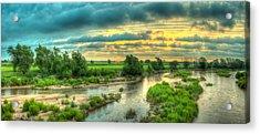 River Sunrise Acrylic Print by  Caleb McGinn