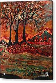 River Sunrise - Lothlorien Acrylic Print