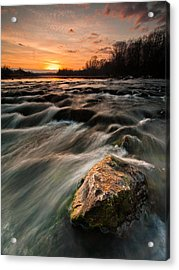 River Sunset Acrylic Print by Davorin Mance