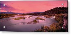 River Sunset Acrylic Print by Leland D Howard