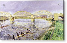 River Thames At Barnes Acrylic Print by Sarah Butterfield