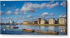 River Thames At Greenwich Acrylic Print