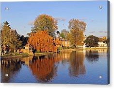 River Thames At Marlow Acrylic Print