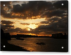 River Thames From Greenwich Acrylic Print