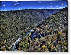 River Through The Hills Acrylic Print
