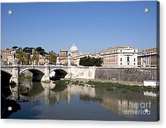 River Tiber With The Vatican. Rome Acrylic Print
